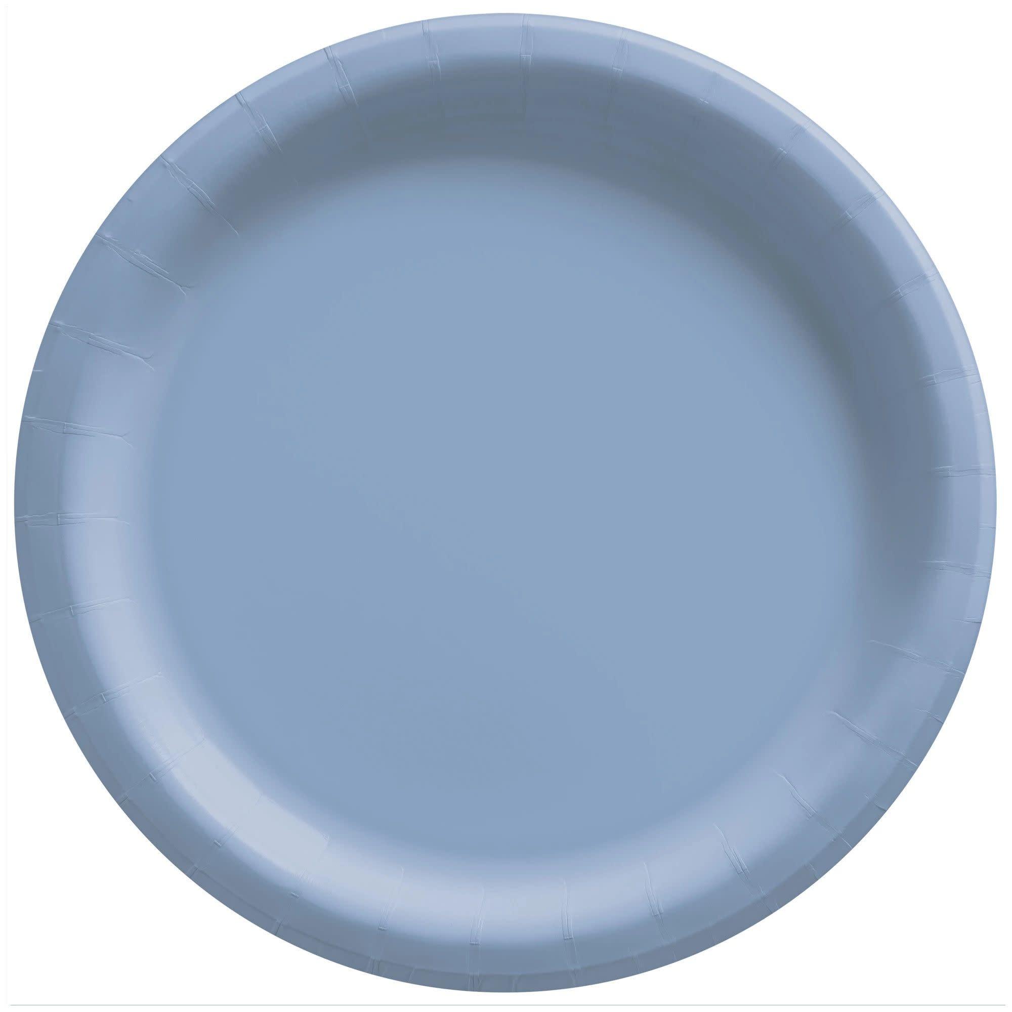"10"" Round Paper Plates, Mid Ct. - Pastel Blue"