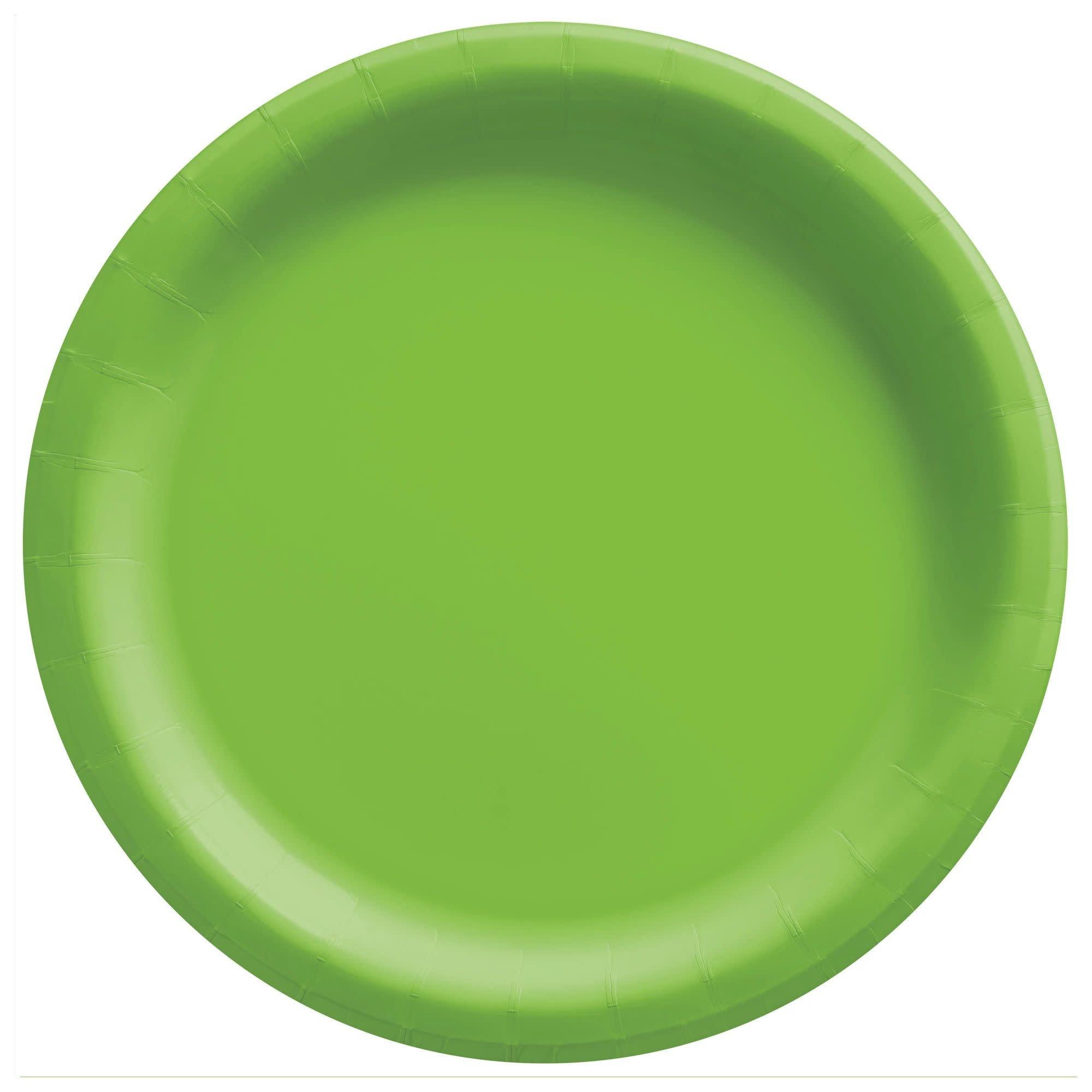 "10"" Round Paper Plates, Mid Ct. - Kiwi"