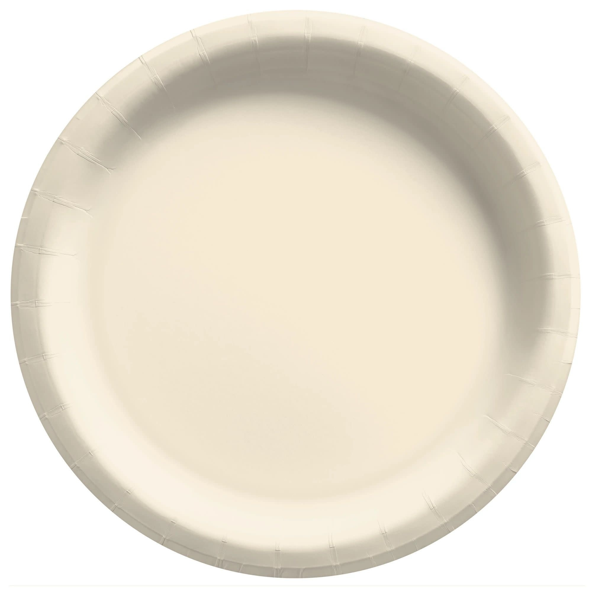 "8 1/2"" Round Paper Plates, Mid Ct. - Vanilla Creme"