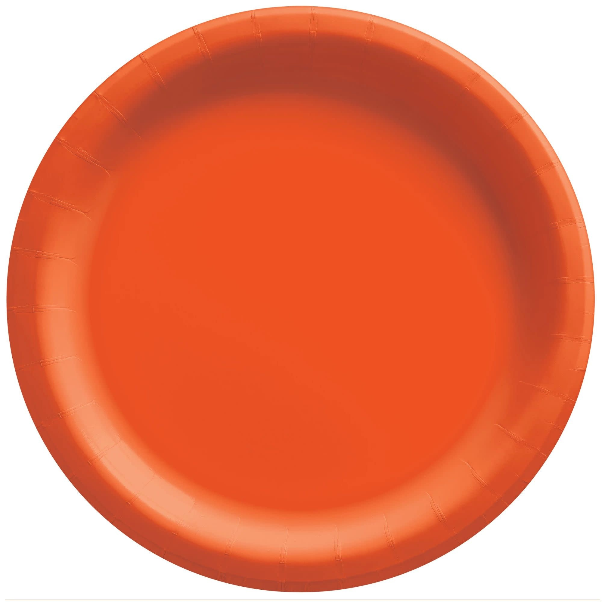 "10"" Round Paper Plates, Mid Ct. - Orange Peel"