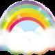 "32"" Rainbow with Clouds Mylar Balloon"