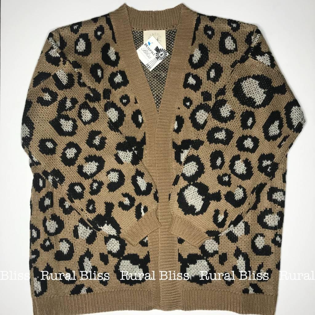 Curvy Leopard Cardigan