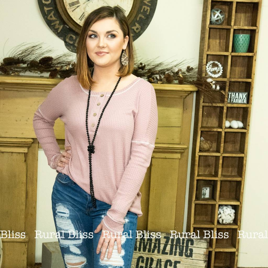 Mauvely Sweet Thermal Top