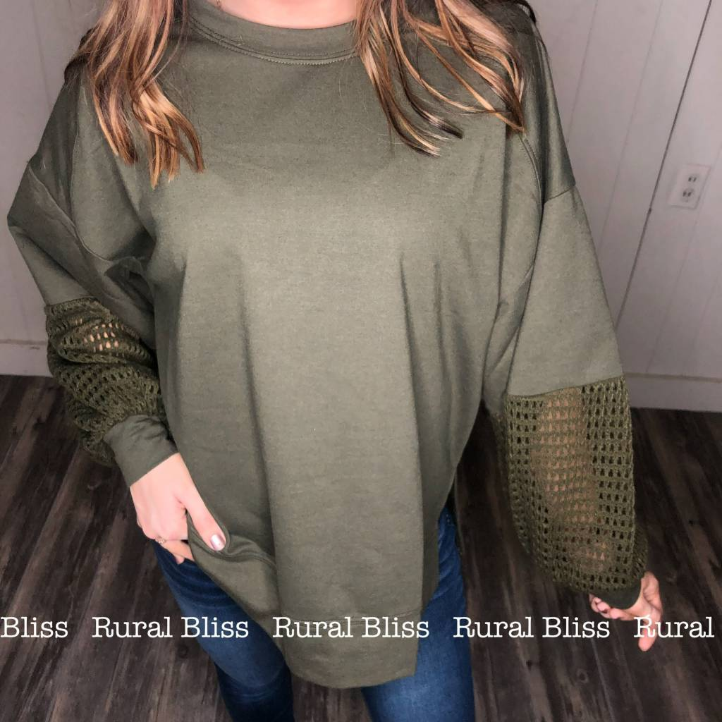 Oversized Pullover Olive