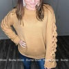 Oversized Lace Up Sleeve Sweater