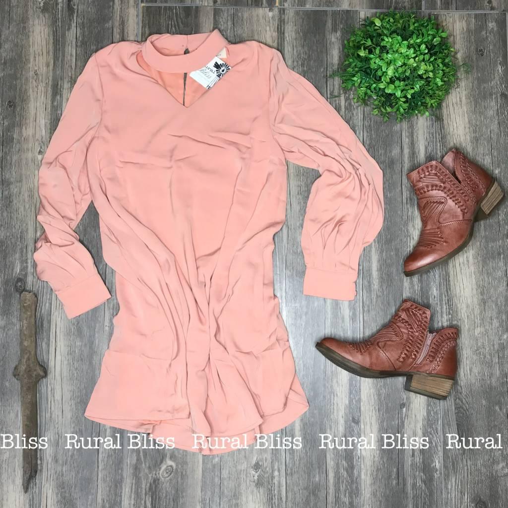 Keyhole Dress Blush
