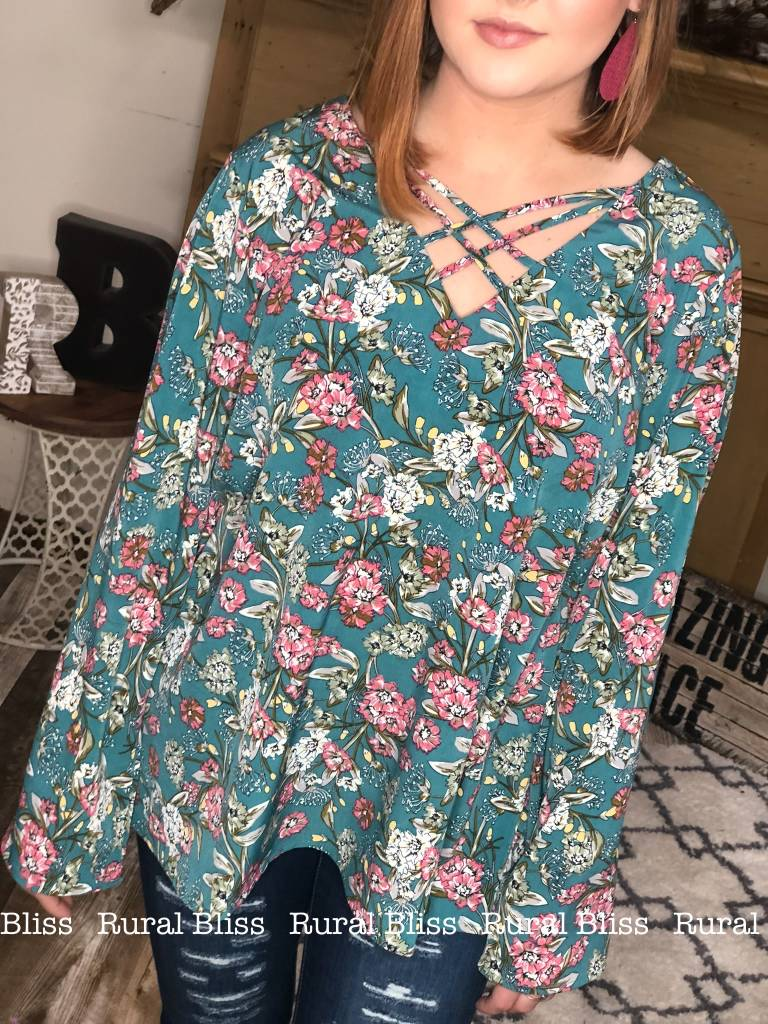 Wildflower Bell Sleeve Top