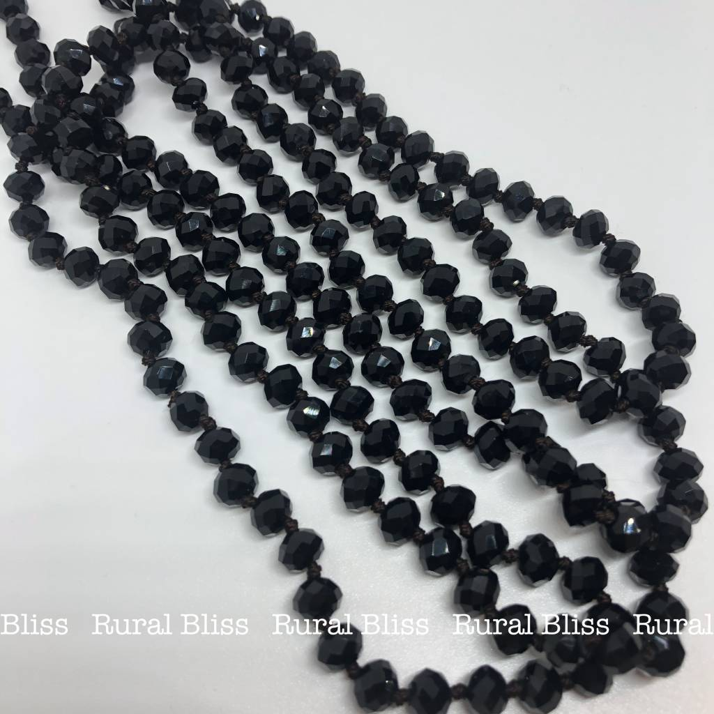 Must Have Big Beaded Long Necklace Black