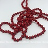 Must Have Mini Beaded Long Necklace Matte Red
