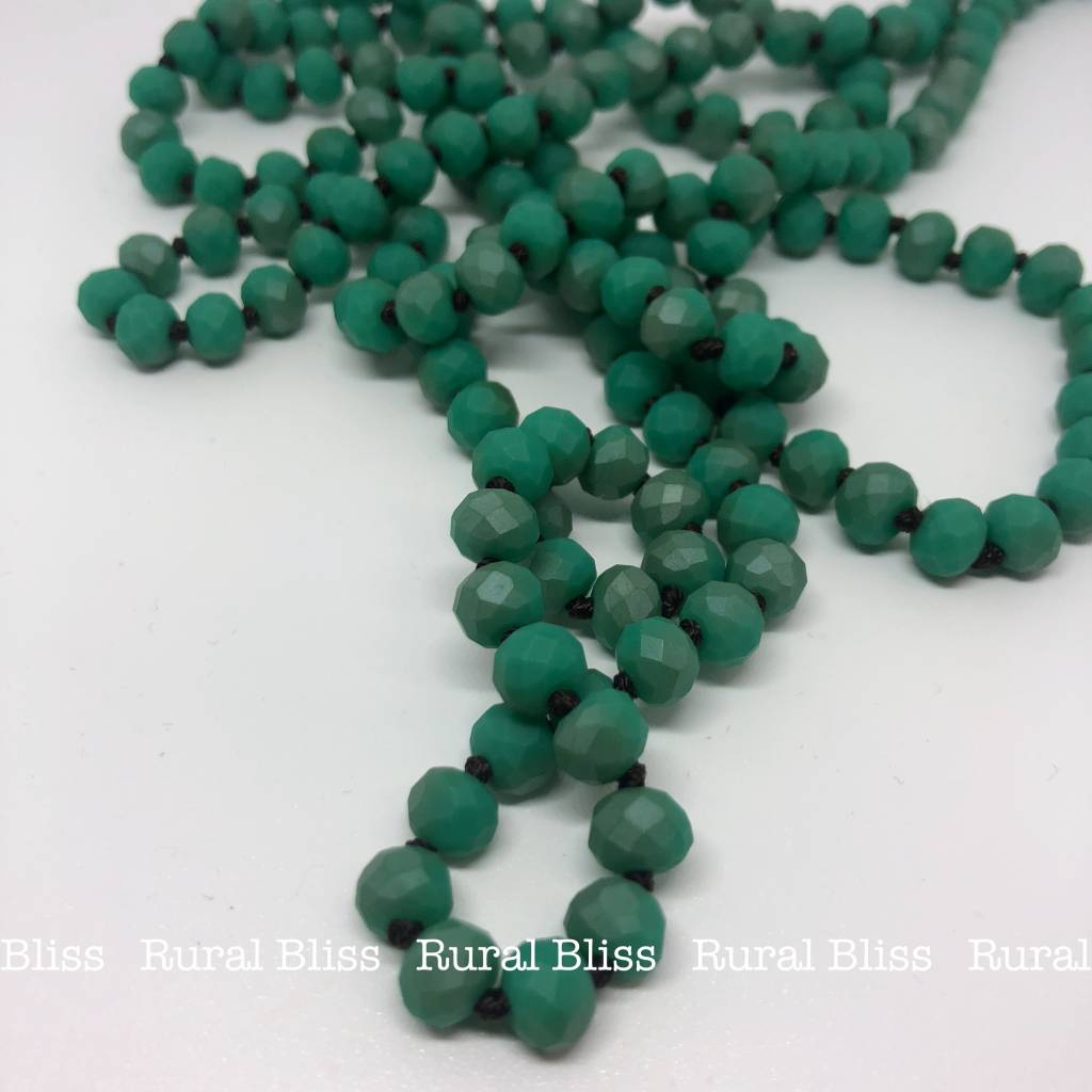 Must Have Mini Beaded Long Necklace Dark Turquoise