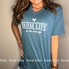 Farm Life V-Neck Graphic Tee