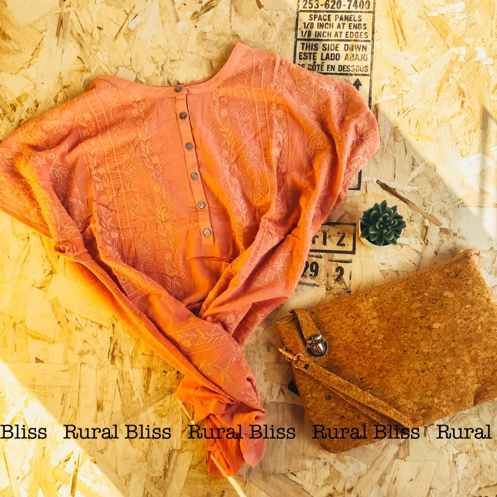 Laced in Love Curvy Top Salmon