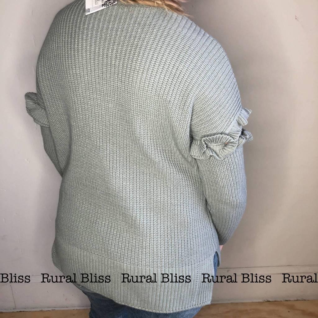 Livin' the Dream Sweater Dusty Mint