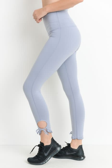 Ruffle Tie Highwaist Leggings Blue