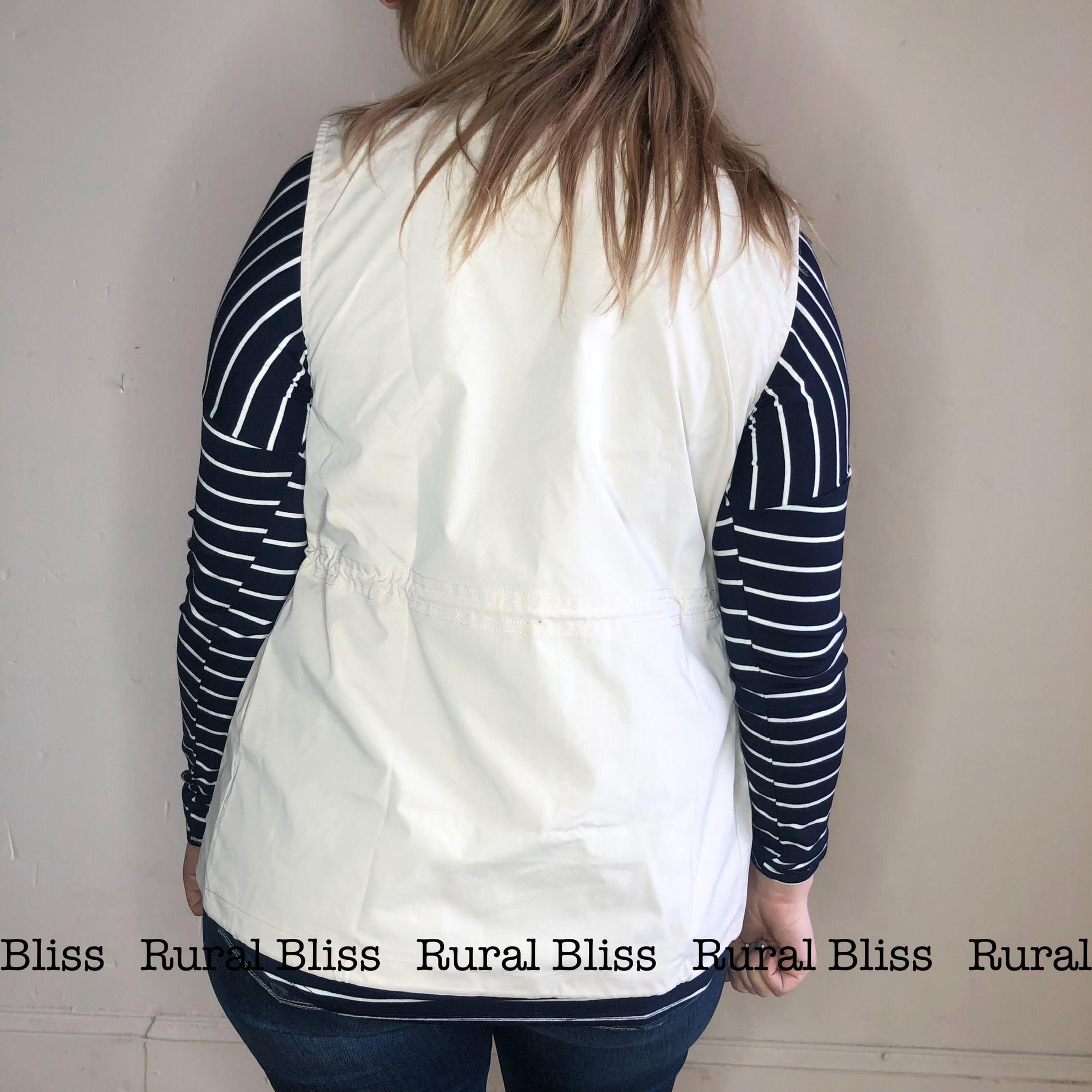 Utility Vest Vintage White