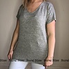 Basic Mesh Back V-Neck Tee