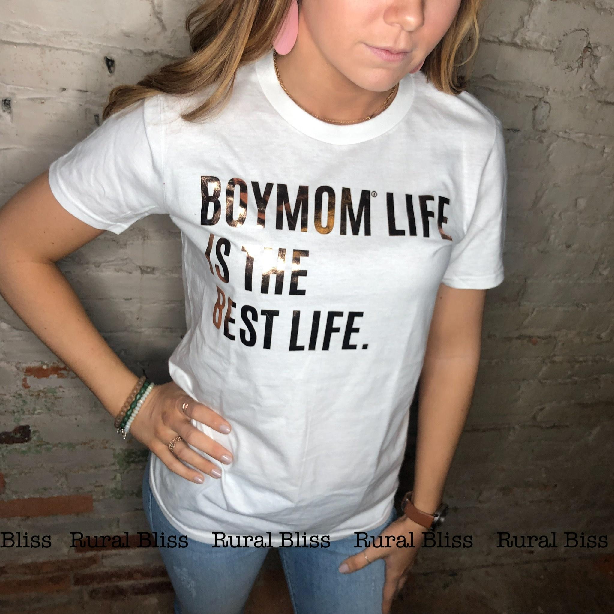 Boymom Best Life Graphic Tee