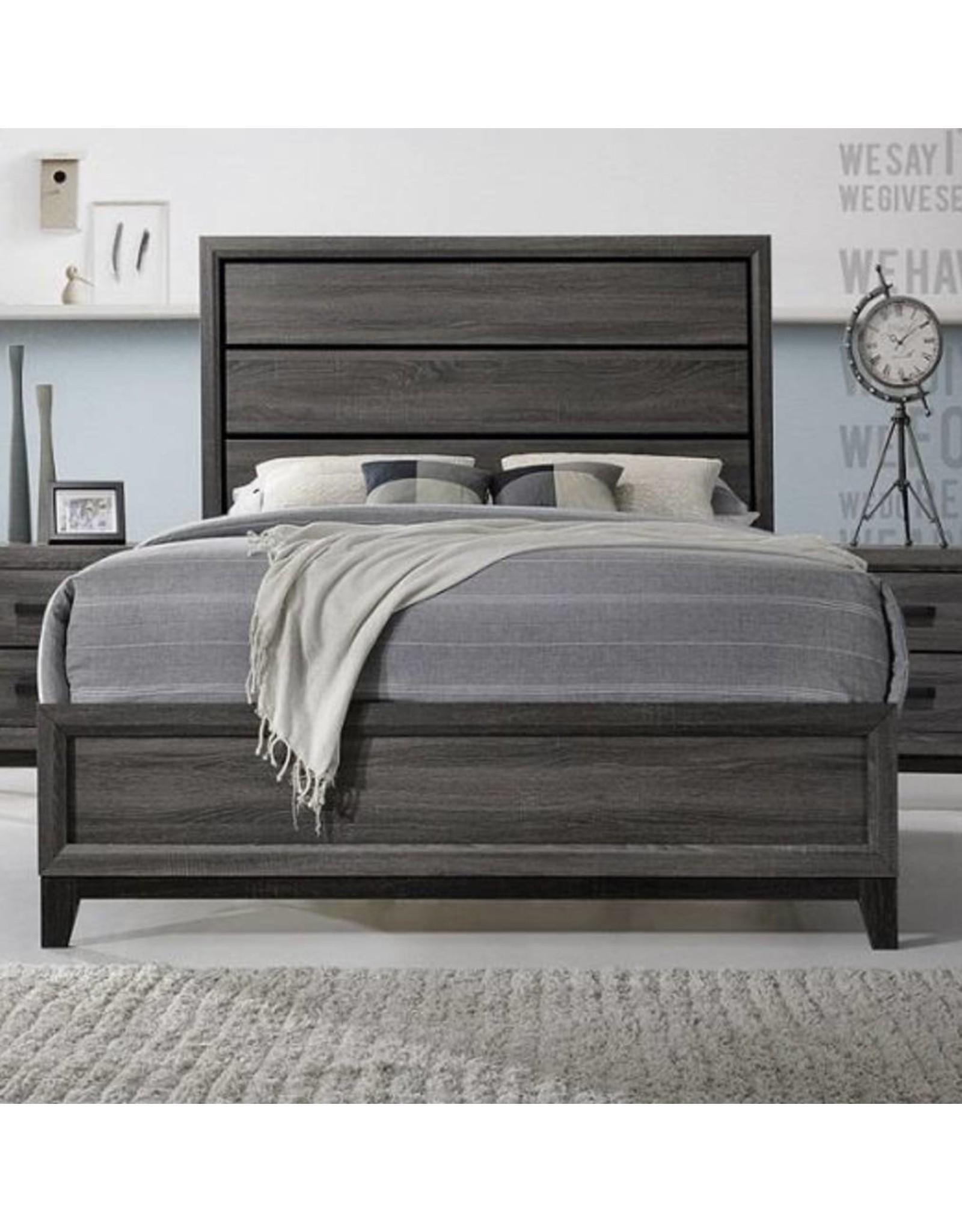 Shiloh SH177 King Bed Gray
