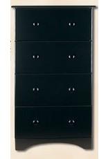 5234 4-Drawer Black Chest