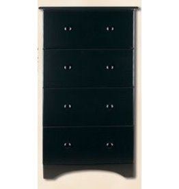 5234 4-Drawer Black Chest