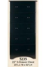 5235 5-Drawer Black Chest