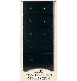 5235 5-Drawer Black Chest