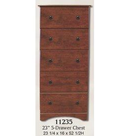 11235 5-Drawer Cinnamon Fruitwood Chest
