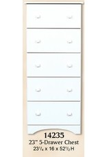 14235 5-Drawer Solid White Chest