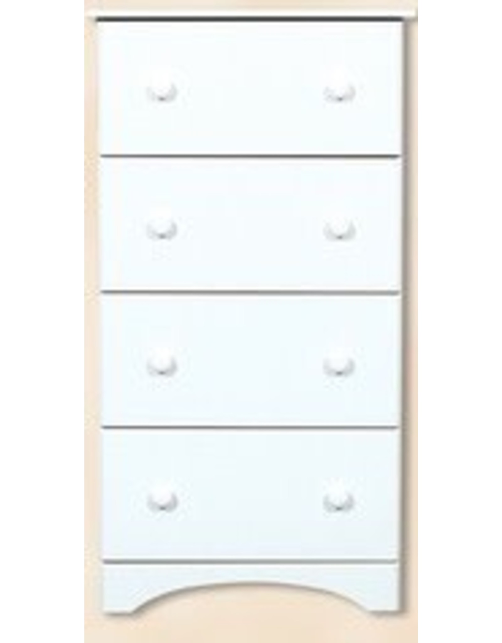 14234 4-Drawer Solid White Chest