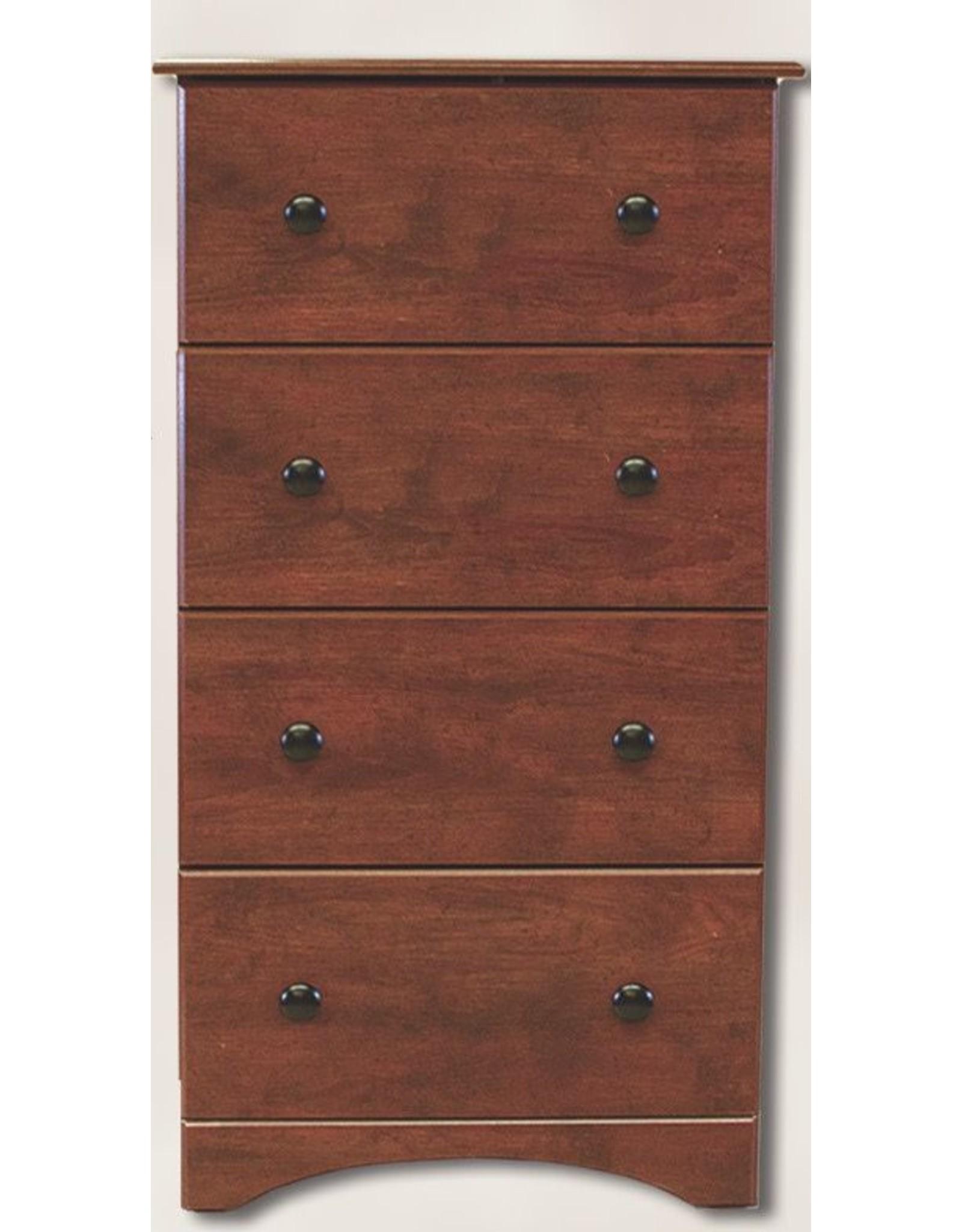 11234 4-Drawer Cinnamon Fruitwood Chest