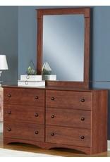11586 6 Drawer Dresser Cinnamon Fruitwood