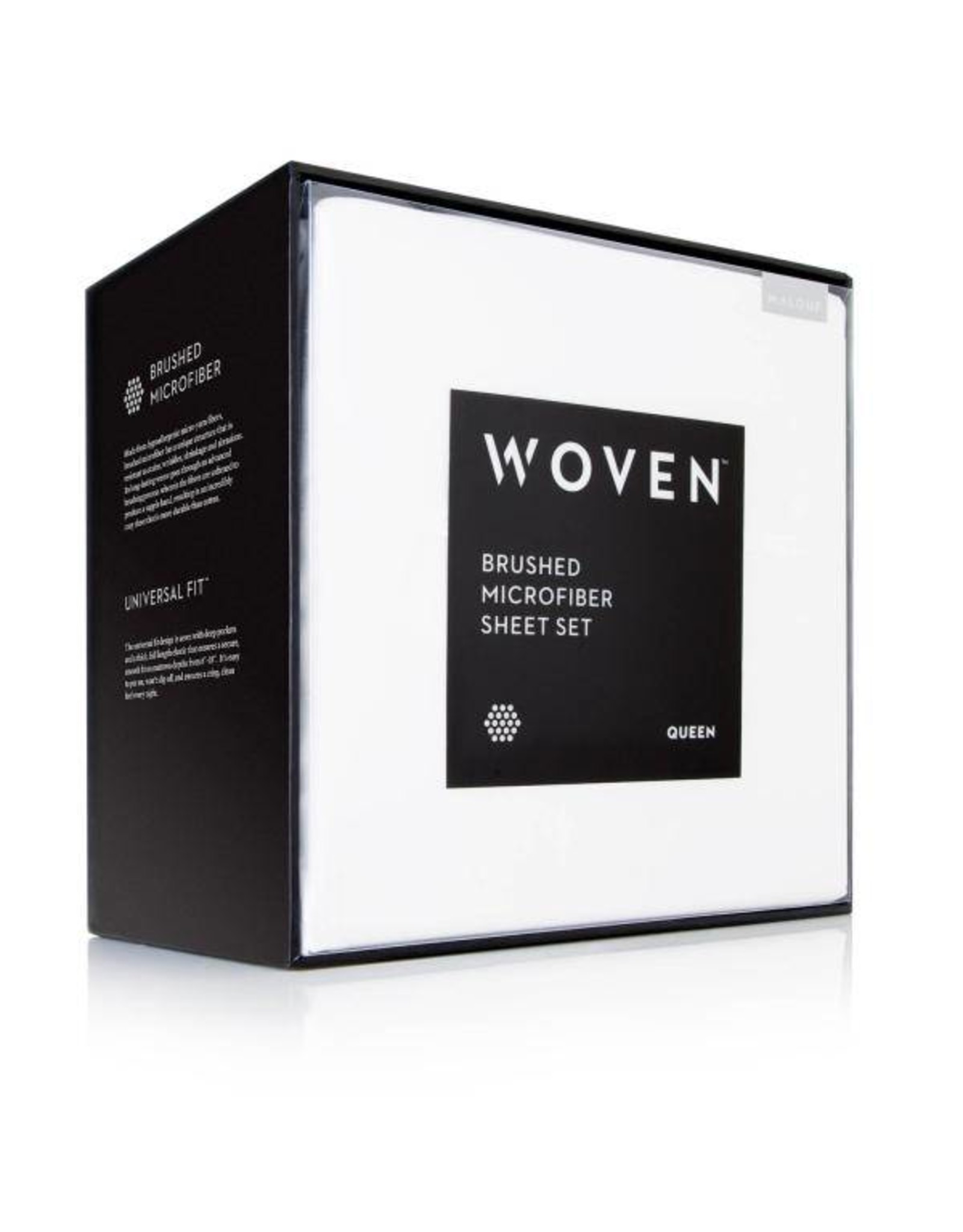 Woven MA90QQBKMS Queen sheets, Black
