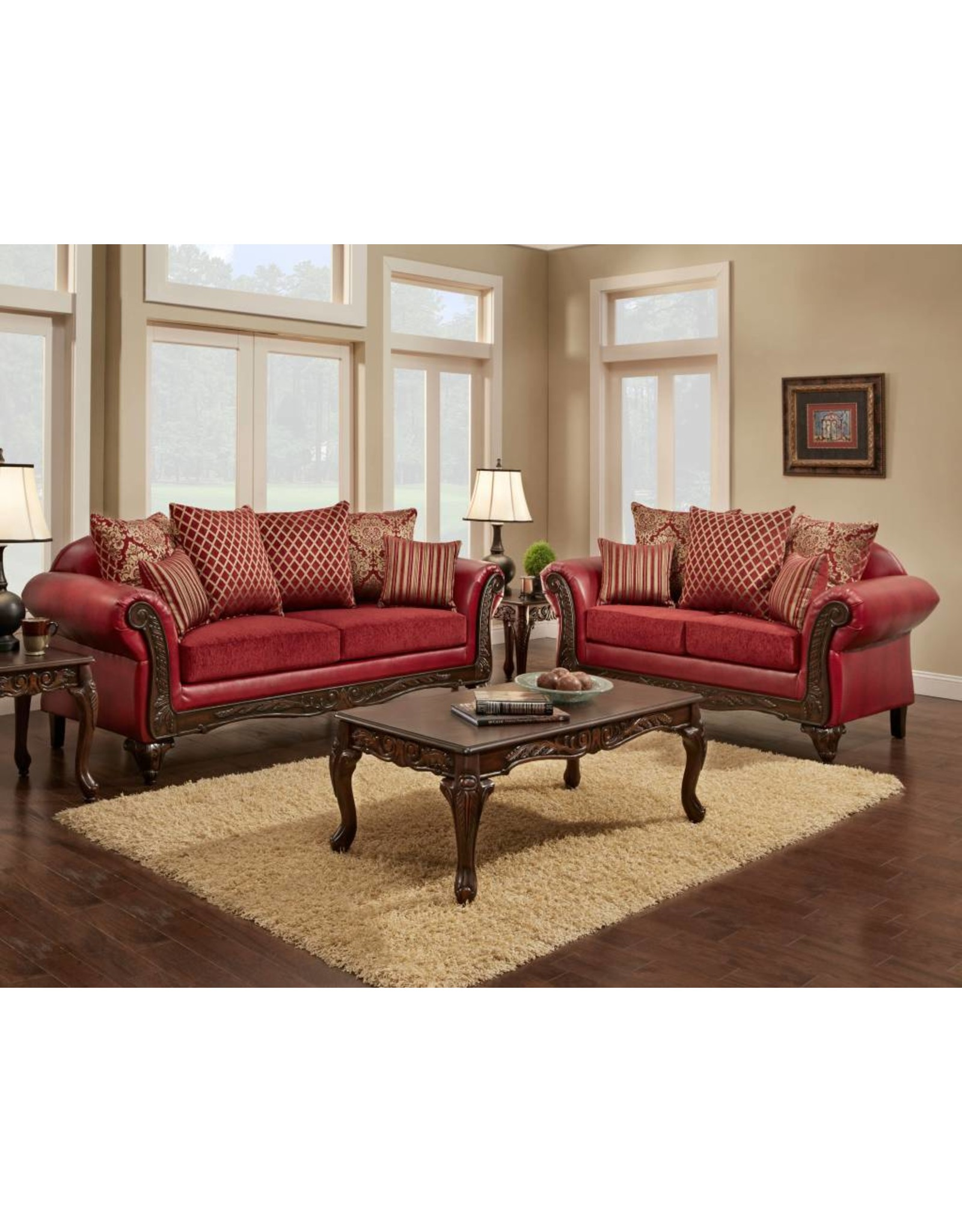 Cleopatra Ruby 6302 Chaise Ruby