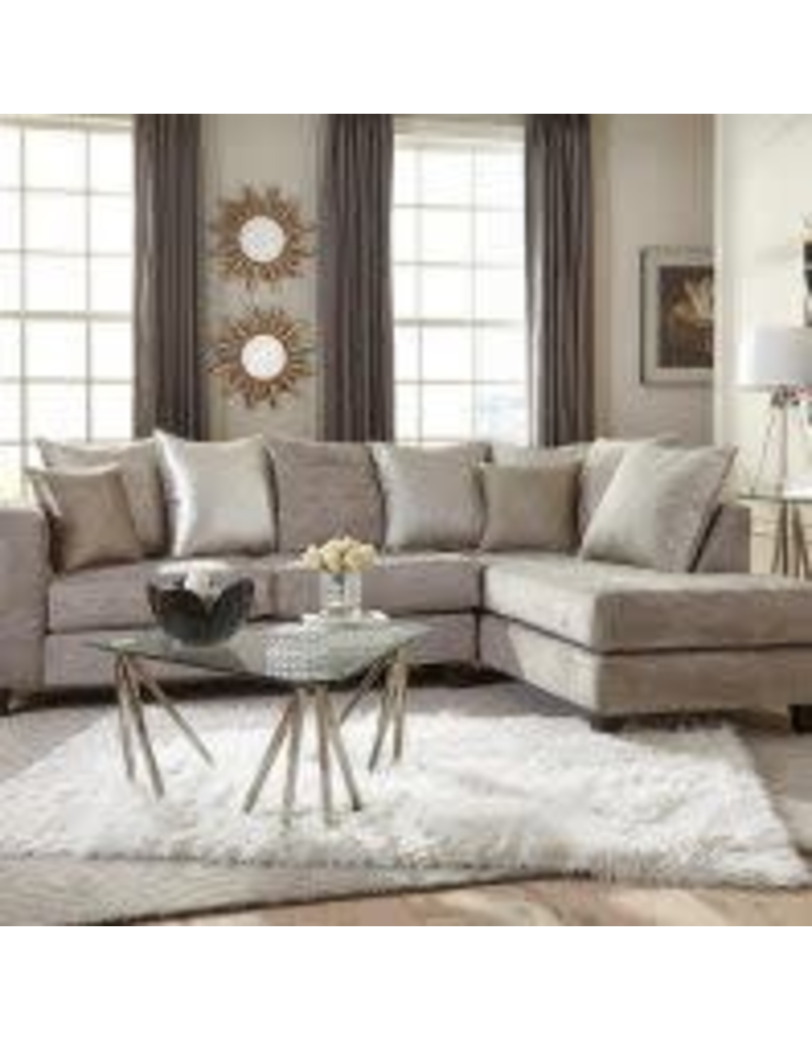 4126 Sectional Hollywood Silver