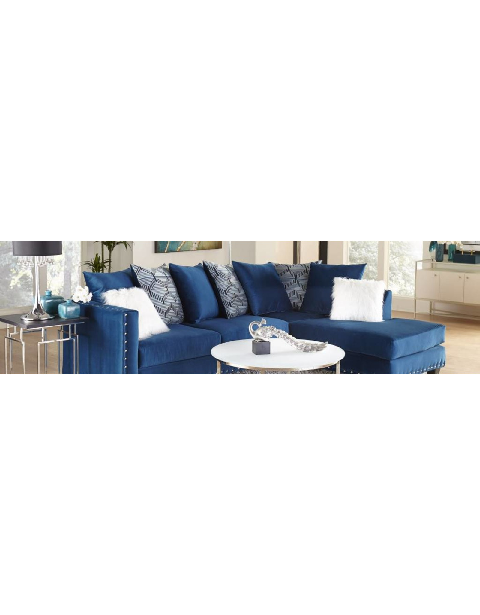 4176 Sectional Blue