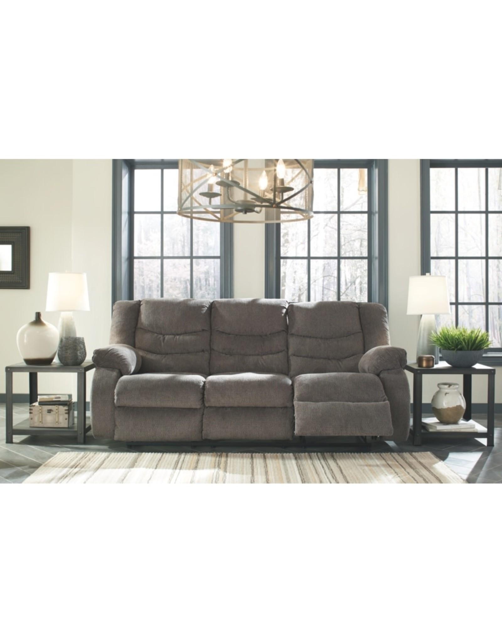 Tulen 9860688 Grey Reclining Sofa