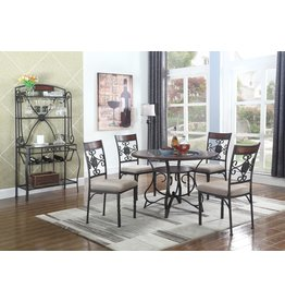 Linden LD200-5PC Dining Set