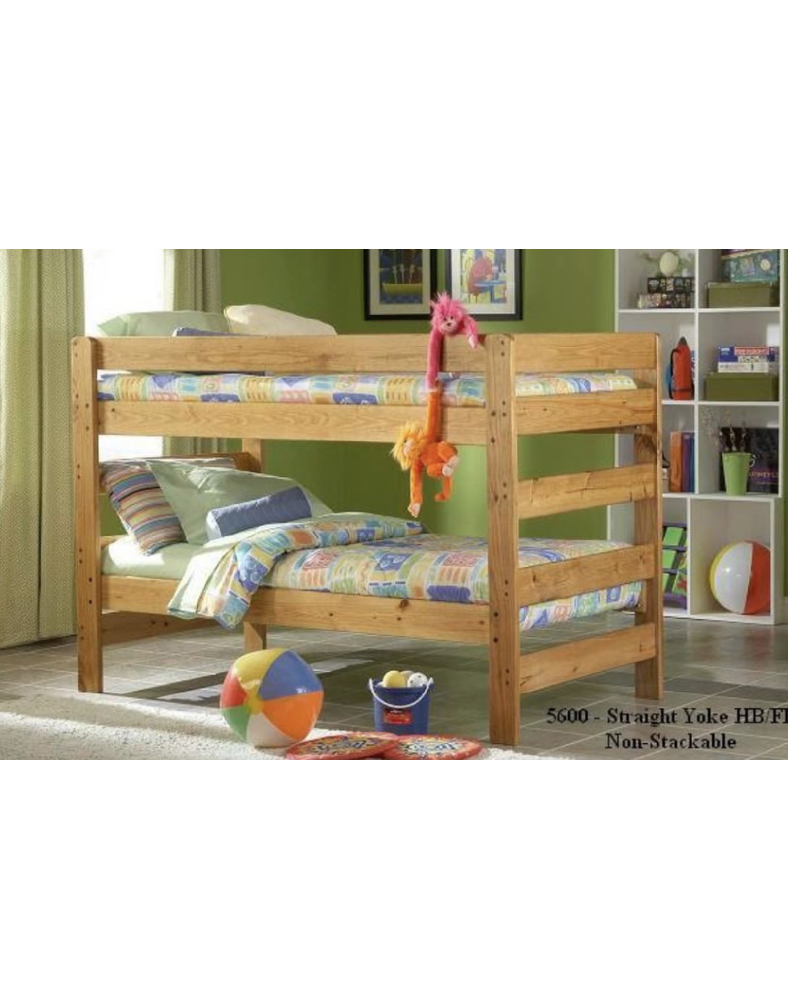 720 Solid Wood Twin/Twin Bunkbed w/Mattresses