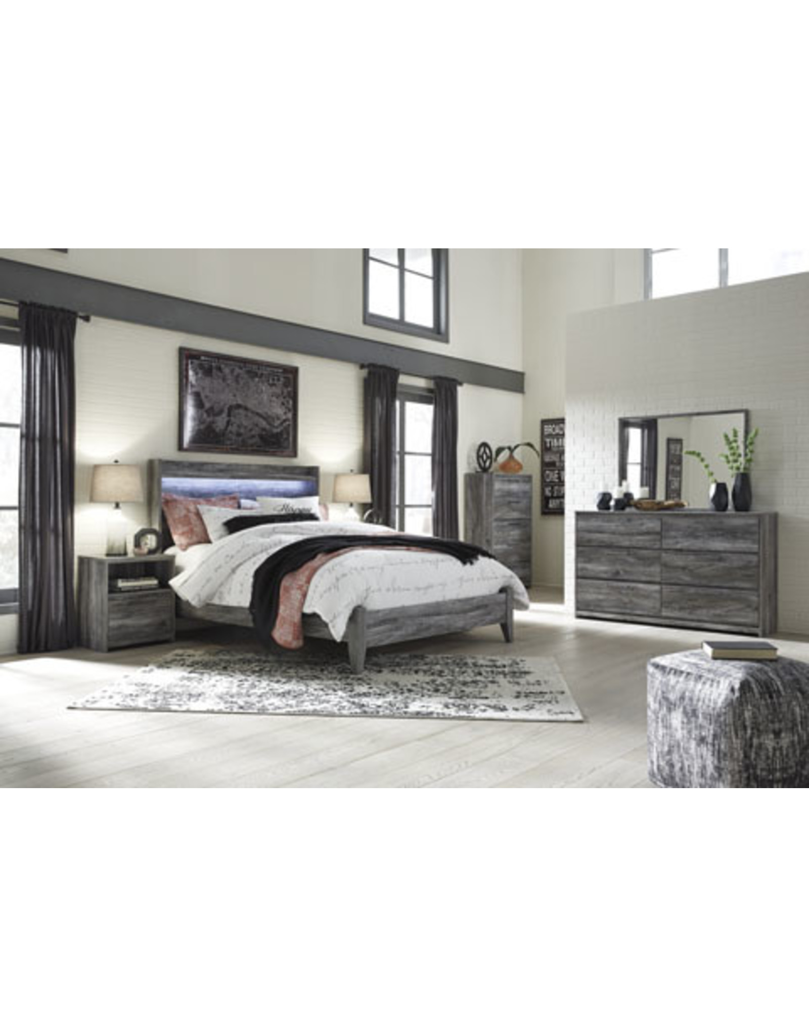 Baystorm B221 5pc Queen Bed-Dresser-Mirror