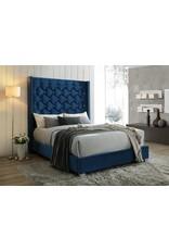 Blue Megan Queen Bed