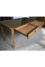 Waldorf Astoria WALDORF-Oak Desk W/Glass Top