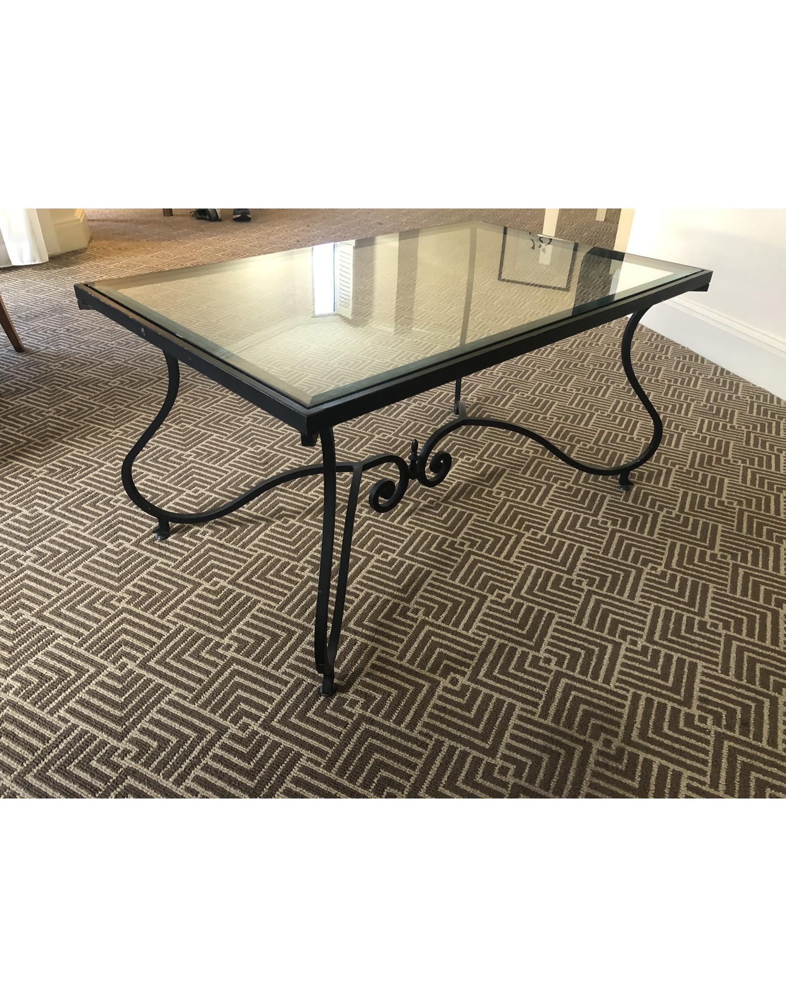 Waldorf Astoria WALDORF-Cast Iron Glass Coffee Table