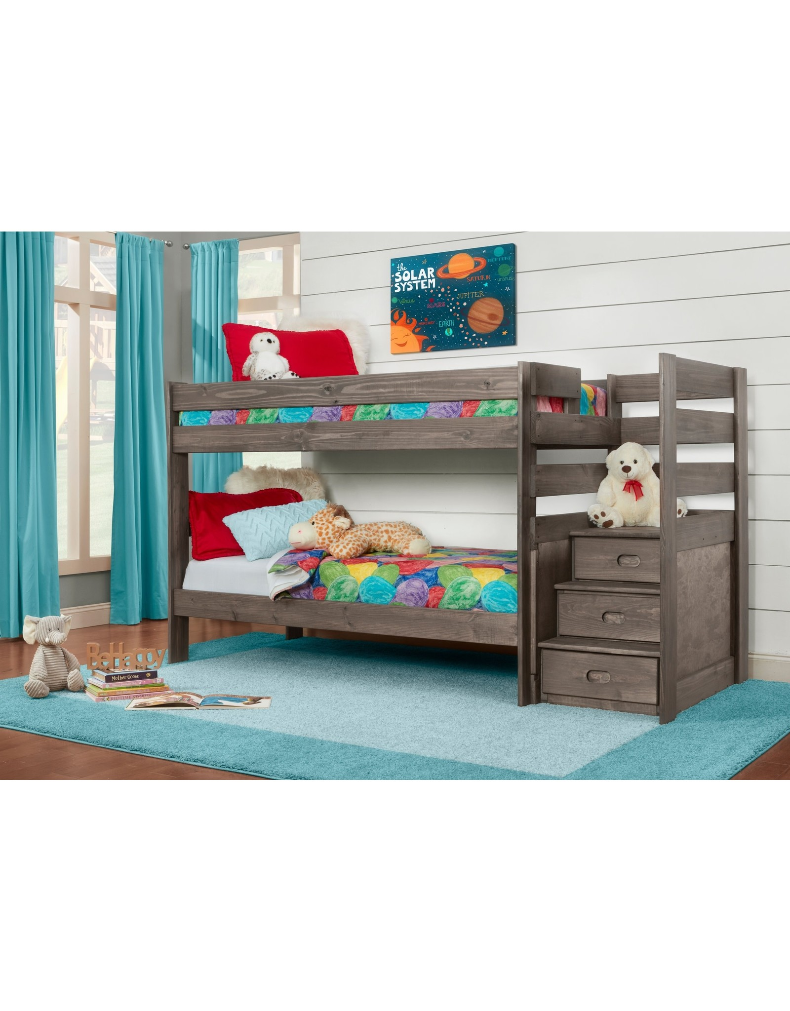 2087 Twin/Twin Staircase Bunkbed