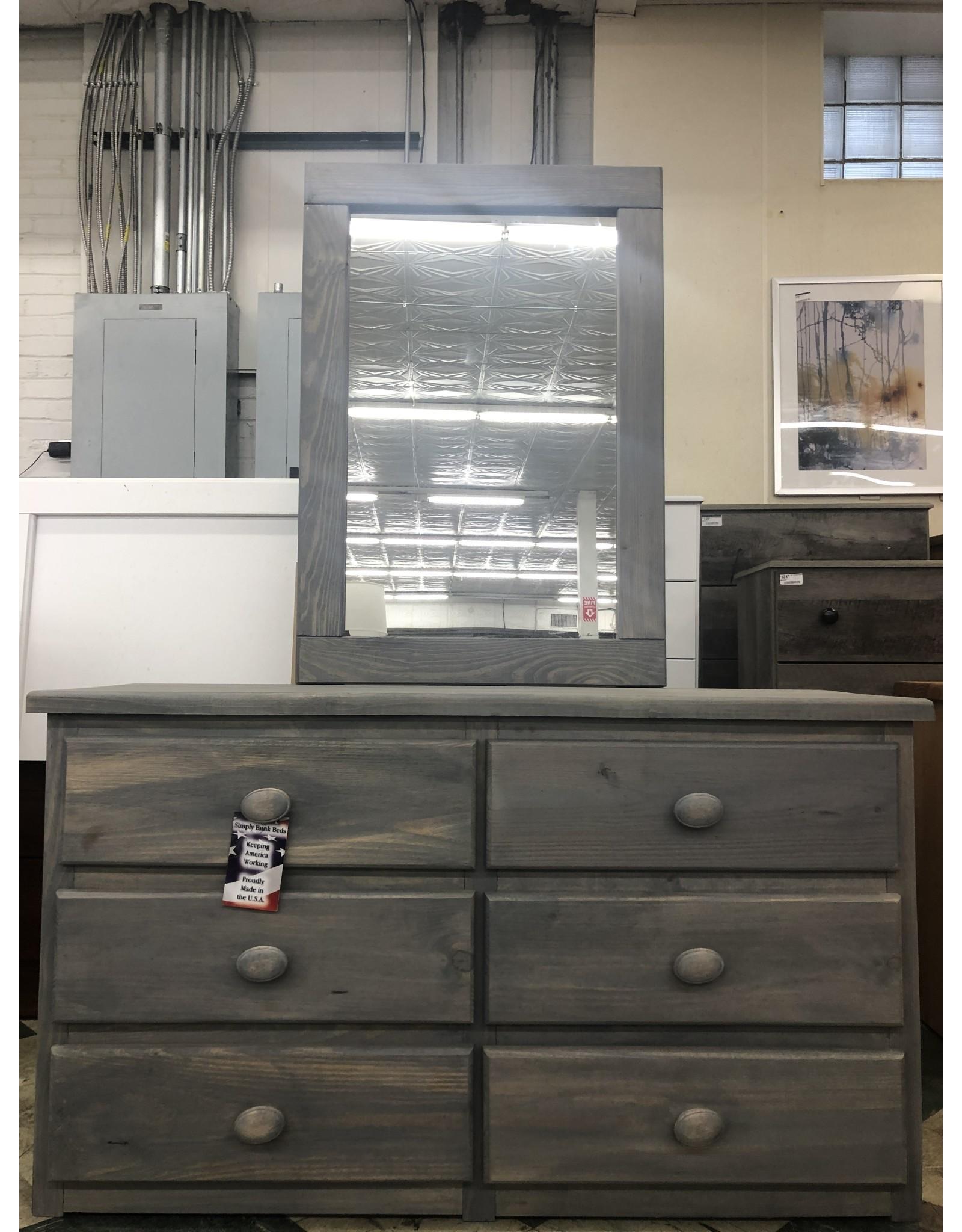 2956/251 Dresser/Mirror Gray