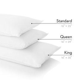 Z ZZKK King Cotton Encased Feather + Down Blend