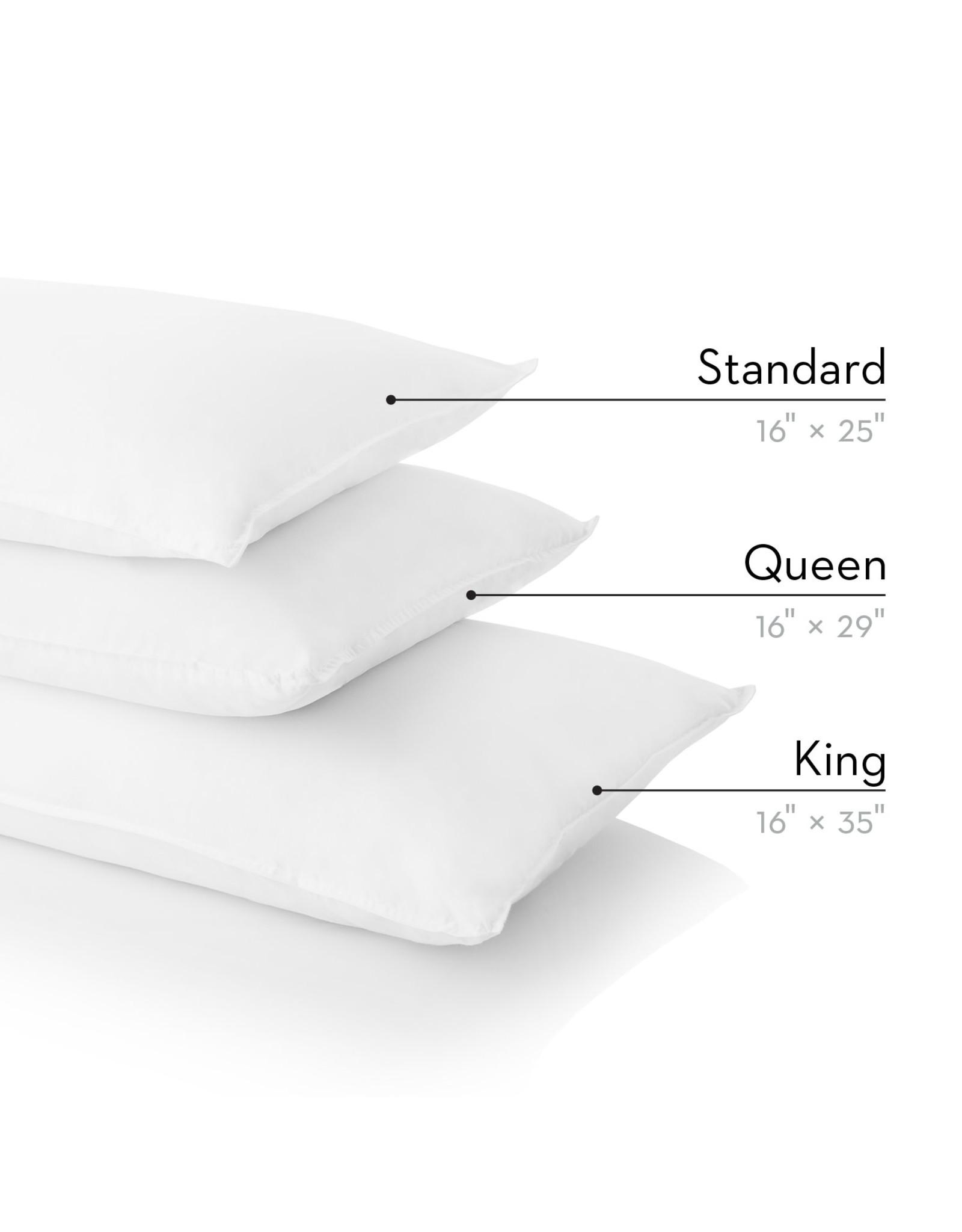 Z ZZQQ Queen Cotton Encased Feather + Down Blend Pillow