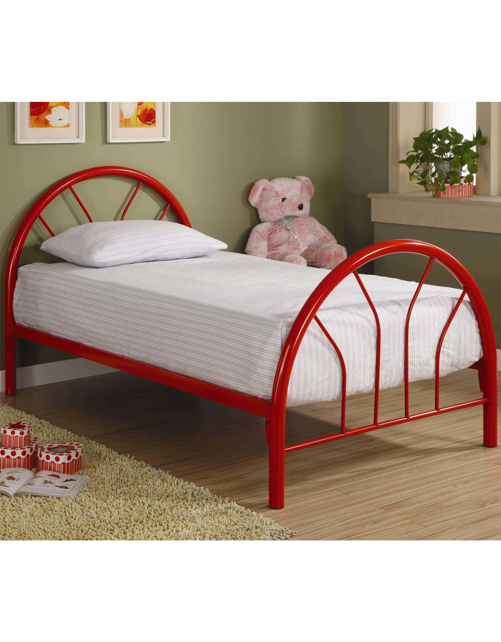 GR-215 Red Twin Bed