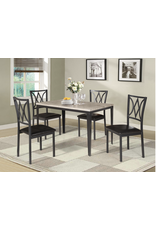 Jason Harold 5pc Dining Table & Chairs - Grey top