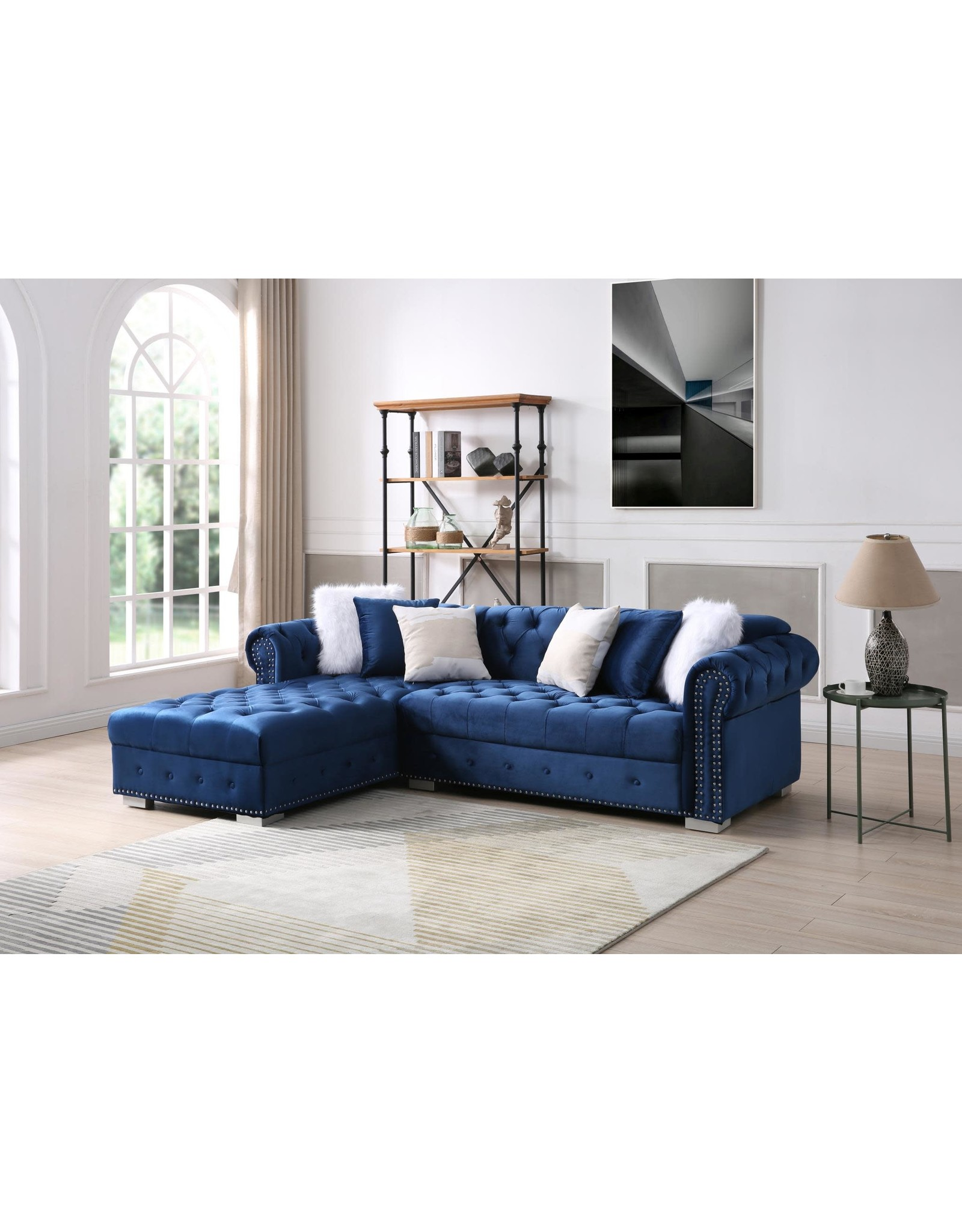 Filmore FL1116 Blue Tufted Sectional