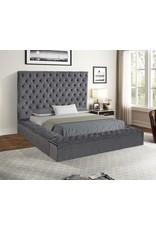 Jake JA8020 Gray Queen Bed W/Storage Footboard